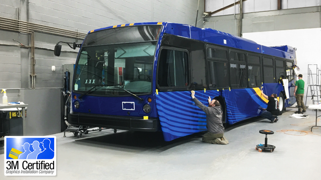 Transit Graphic Bus Livery and Vinyl Wrap Installation