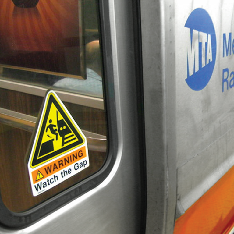 Transit and Metro Safety decal