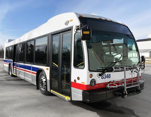 Transit Vehicle Bus Striping