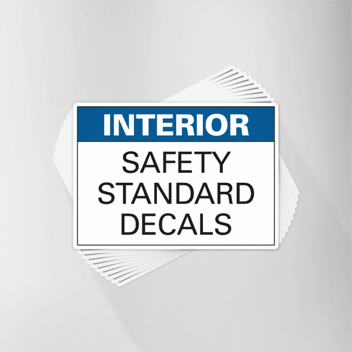 Interior Safety Standard Decals