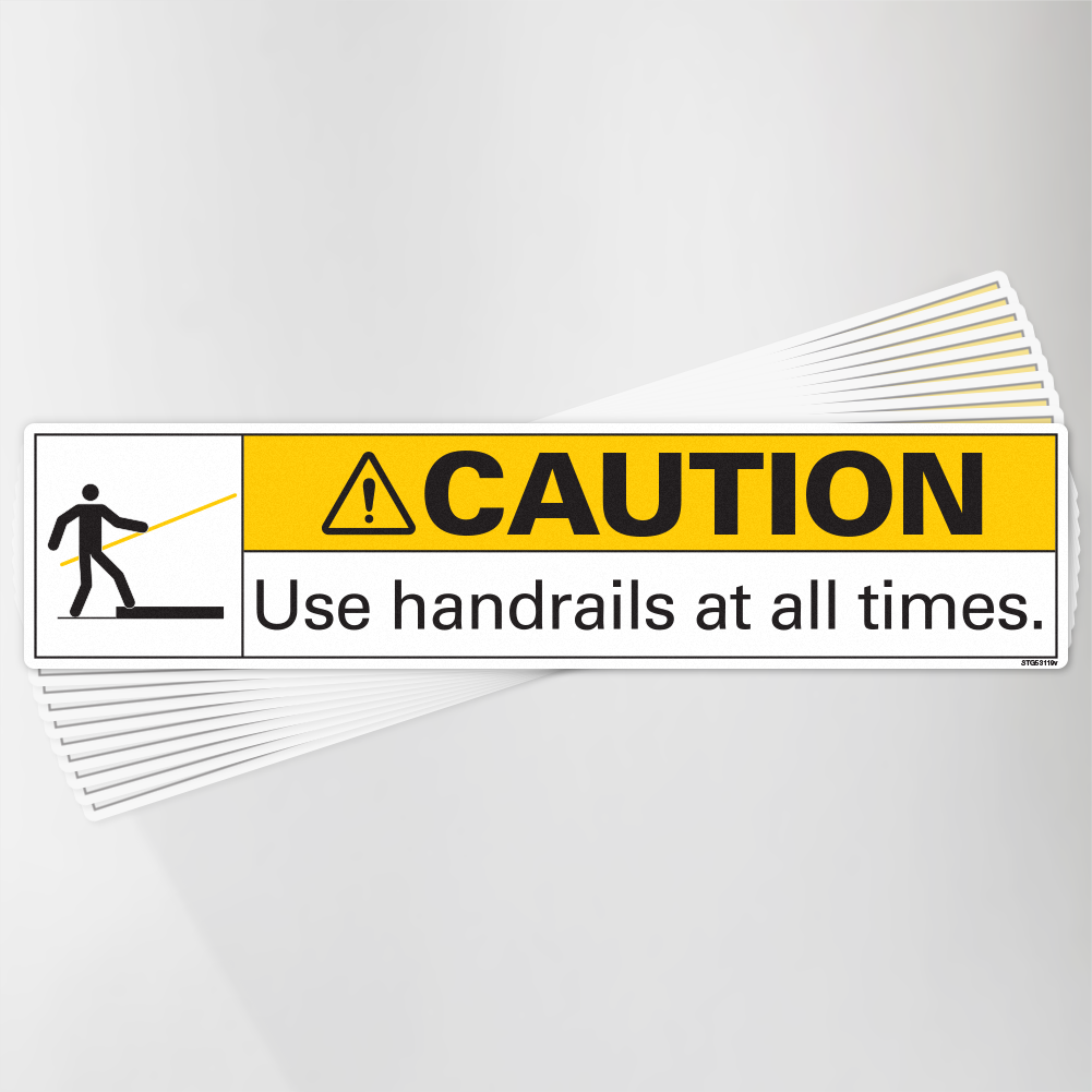 Use Handrails at all times Decal Pack