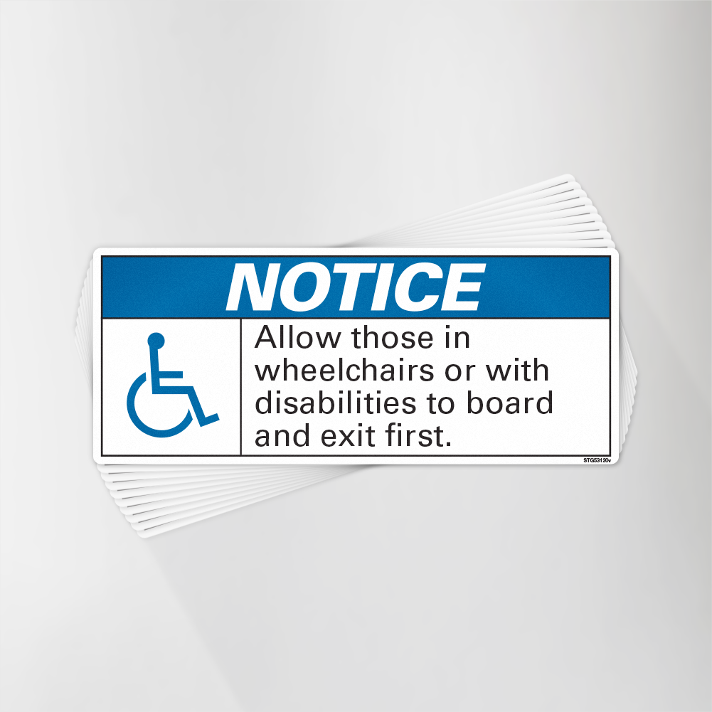 Wheelchairs Priority Boarding First Decal Pack