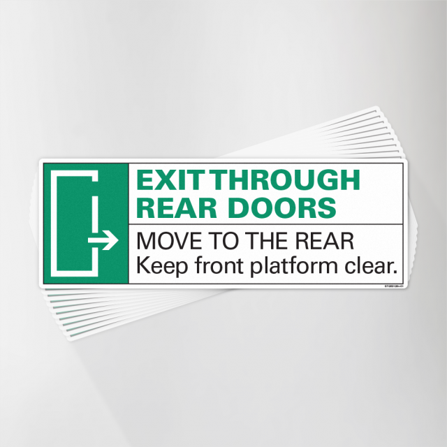 Exit Through Rear Right Arrow Decal Pack