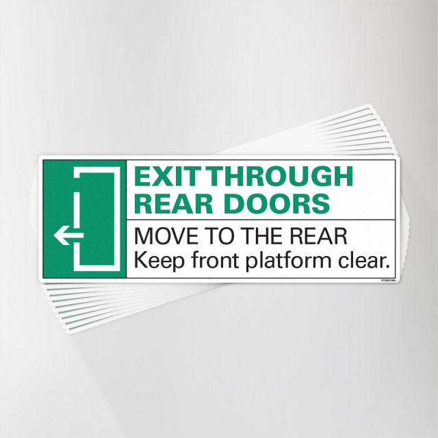 Exit Through Rear Left Arrow Decal Pack