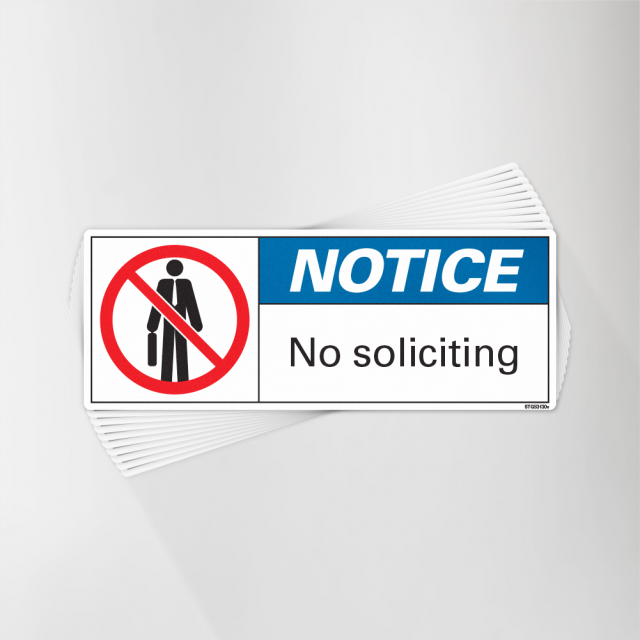 No soliciting Decal - Vinyl Sign Decal