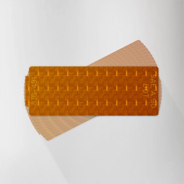 Amber Retroreflector Spitfire - Reflective Decal